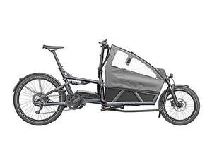 Riese & Muller Load 60 Touring Cargo E Bike 2020 - Coal Grey with Child Seat and Child Cover