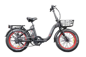 "Earth Ant E-bike 4"" Folding - Black / Red"