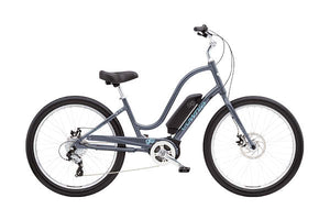 Electra Townie Go! 8D Step Thru EBike Cosmic Grey | Electric Bikes Brisbane
