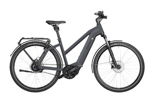 Riese & Muller Charger3 Mixte Vario ebike, Storm blue | Electric Bikes Brisbane