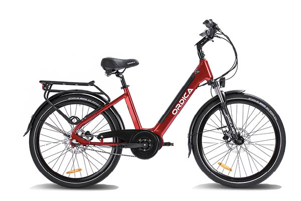 "Ordica Neo Mid 26"" E-Bike, Red 