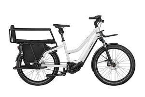 Riese & Muller Multicharger GT Vario ebike, Pearl white with safety bar kit