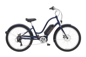 Electra Townie Go! 8D Step Thru EBike Oxford Blue | Electric Bikes Brisbane