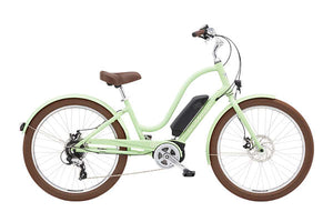Electra Townie Go! 8D Step Thru EBike Seafoam | Electric Bikes Brisbane