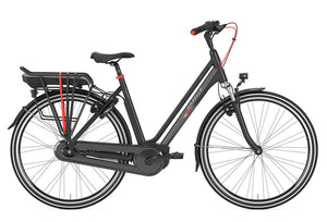 Gazelle Vento C7 stepthrough electric bike - black