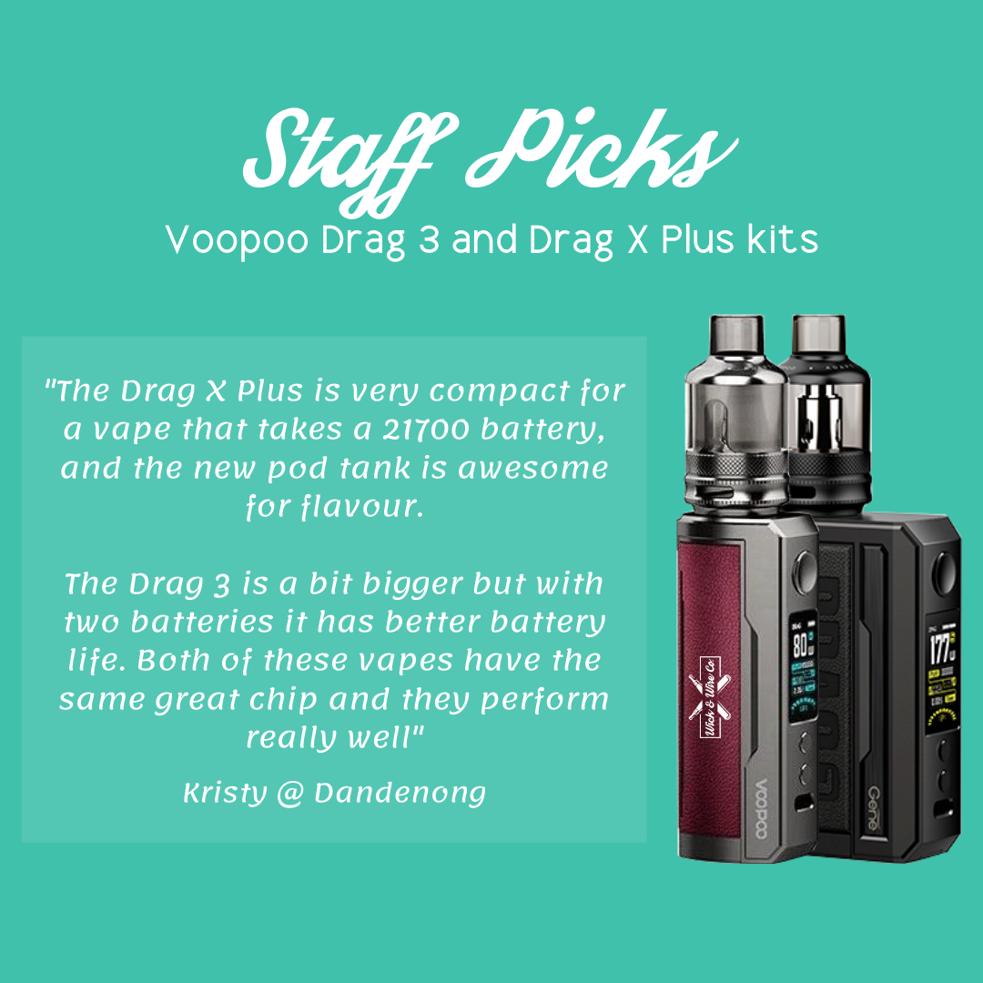 Buy Voopoo Drag 3 Starter Kit - Wick and Wire Co Melbourne Vape Shop, Victoria Australia