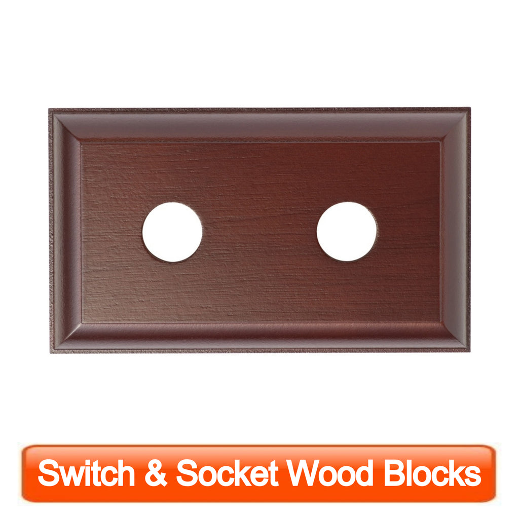 Switch & Socket Wood Blocks