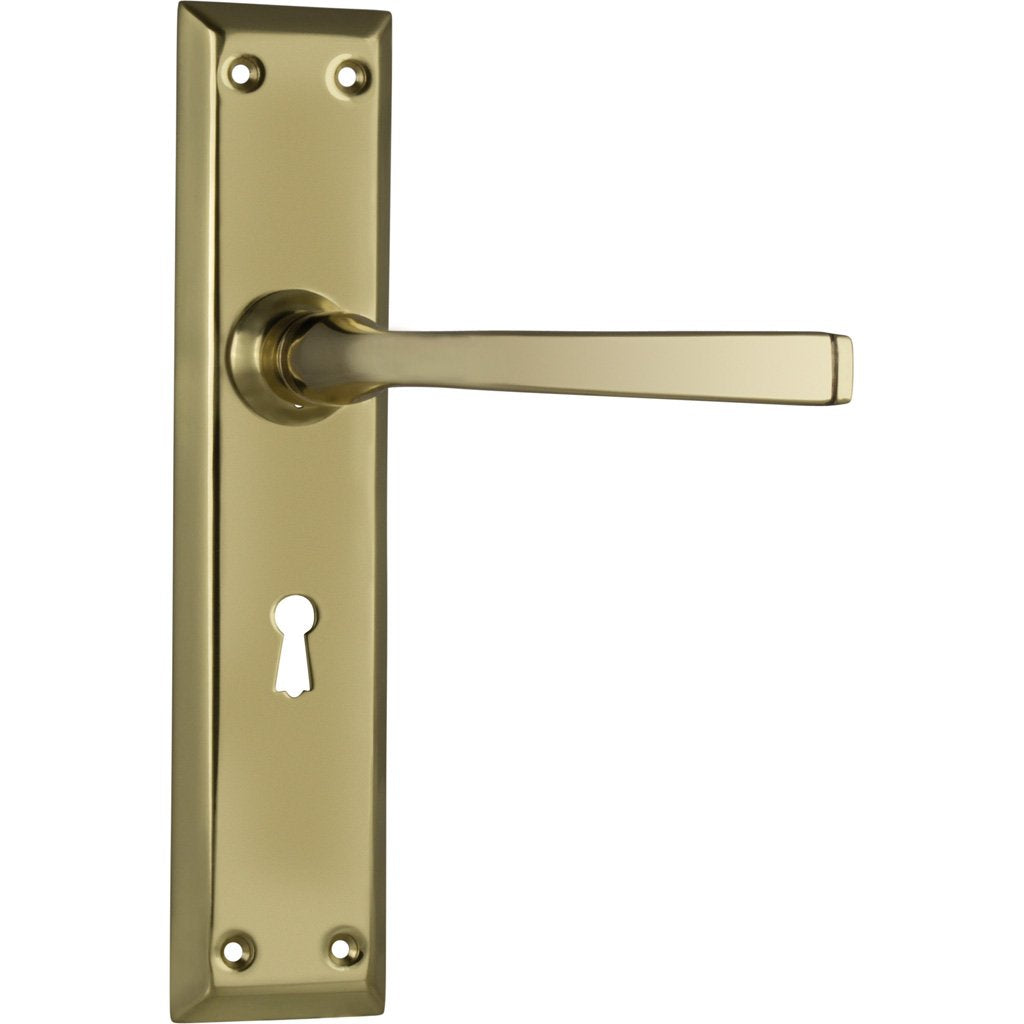 Menton Lever on Rectangular Plate (Door Handle Set)