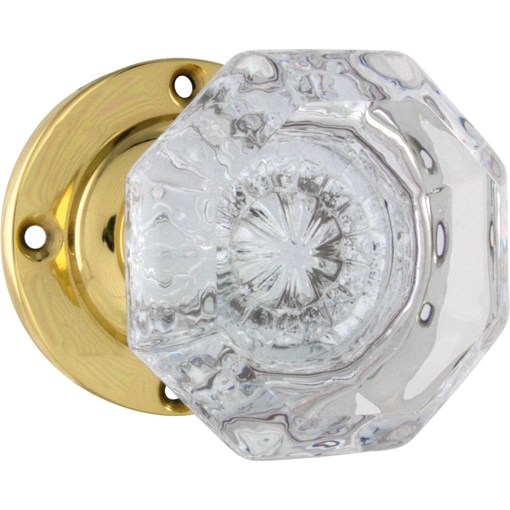 Milton Glass Knob on Rose (Door Handle Set)