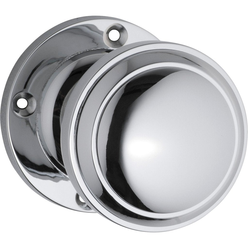 Milton Knob on Rose (Door Handle Set)
