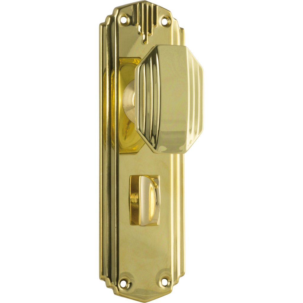 Deco Octagonal Knob on Plate (Door Handle Set)