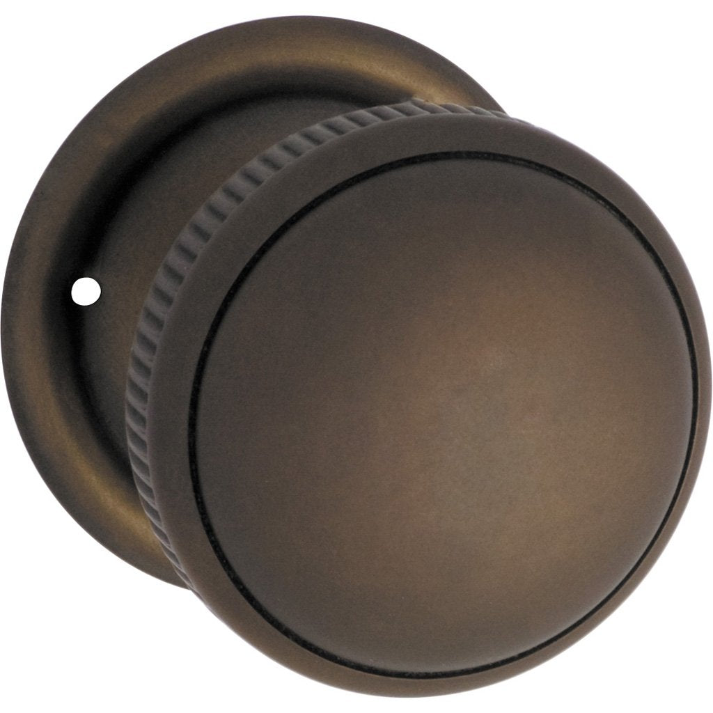 45mm Milled Edge Knob on Rose (Door Handle Set)