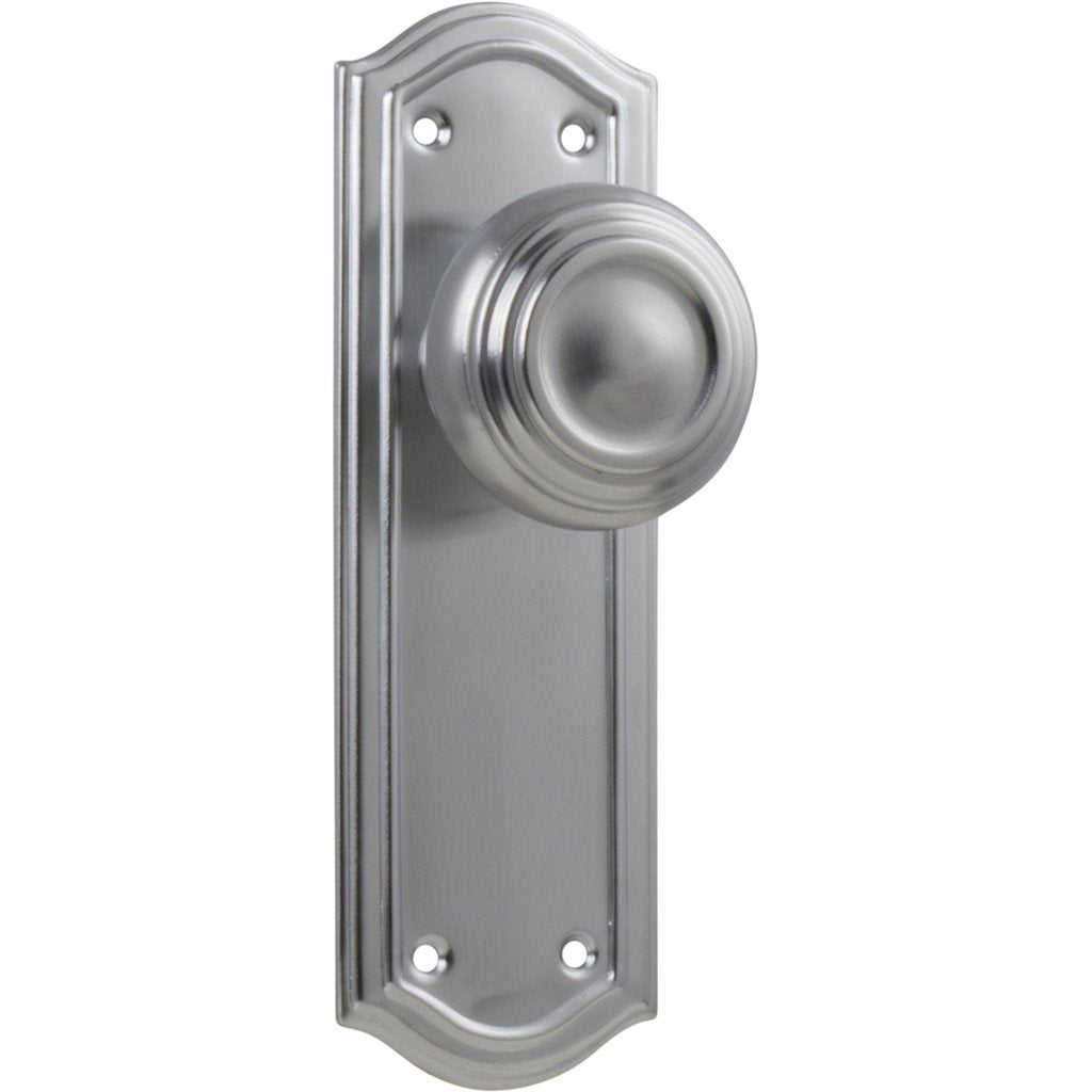 Kensington Knob on Shouldered Plate (Door Handle Set)