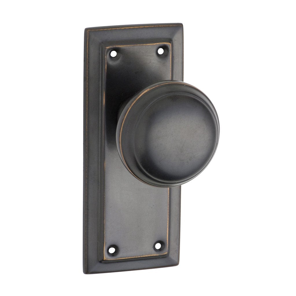 Richmond Knob on 125mm Rectangular Plate (Door Handle Set)