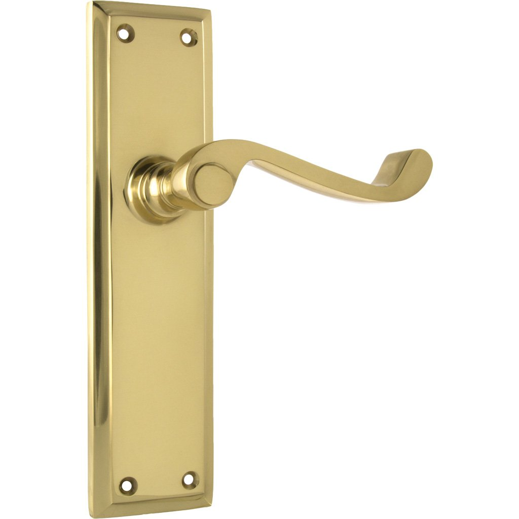Milton Lever on 200mm Rectangular Plate (Door Handle Set)