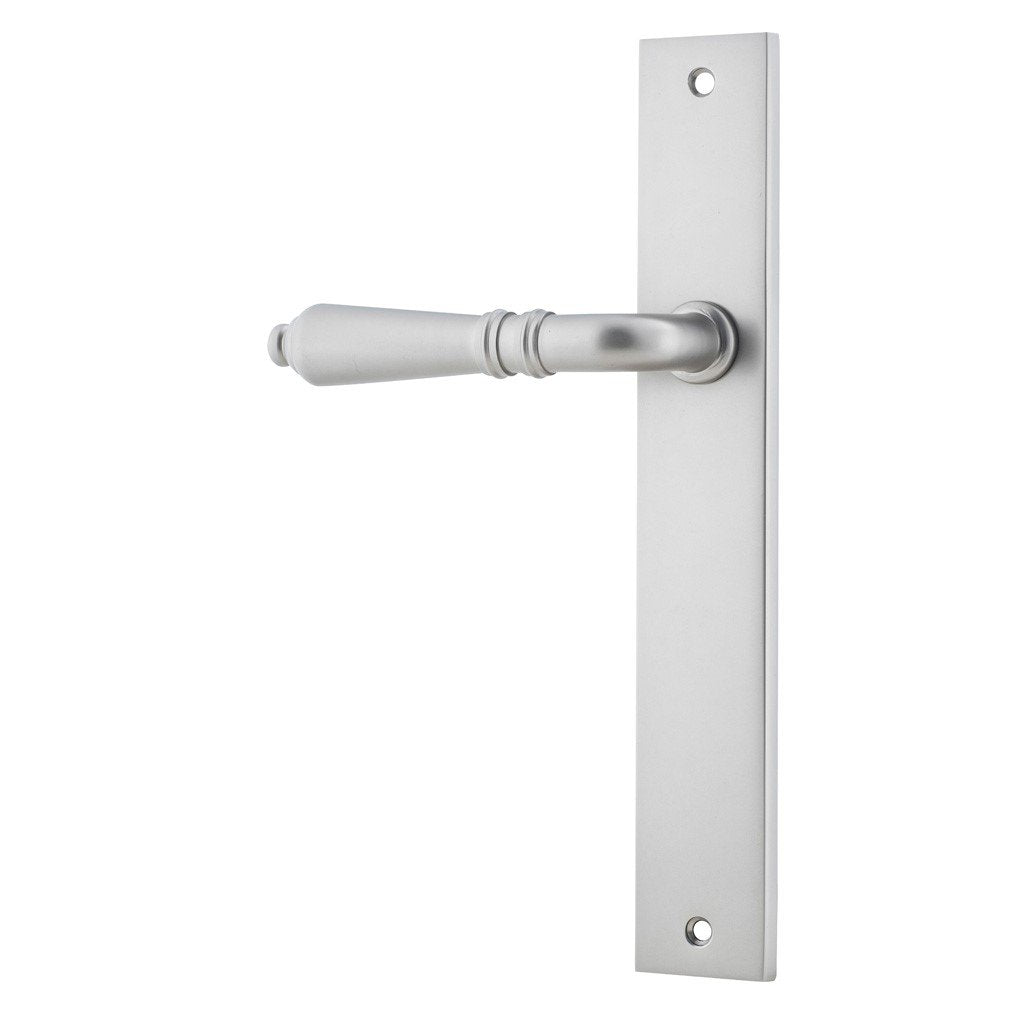 One Single Sarlat Lever on Rectangular Plate (suits Robe/Linen Closet Doors)