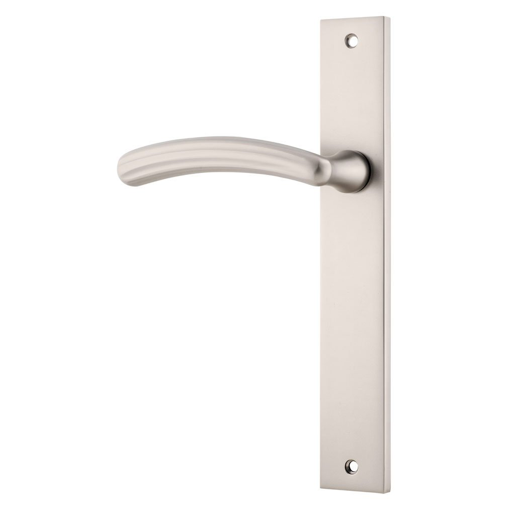 One Single Siena Lever on Rectangular Plate (suits Robe/Linen Closet Doors)