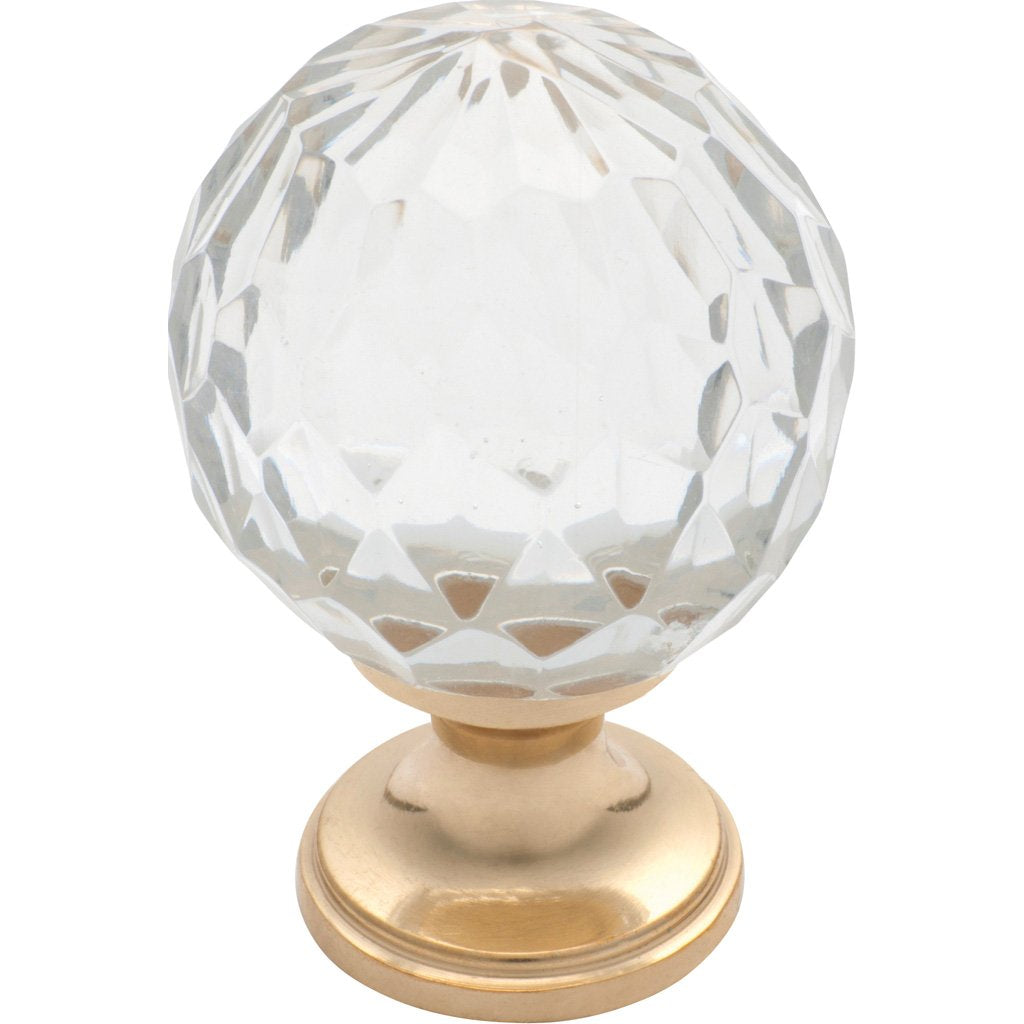 Cupboard Knob Cut Glass