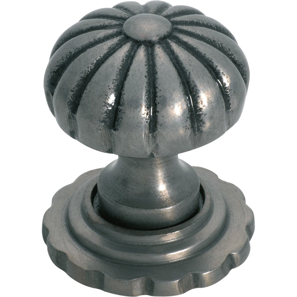 Cupboard Knob Fluted (with Back Plate)