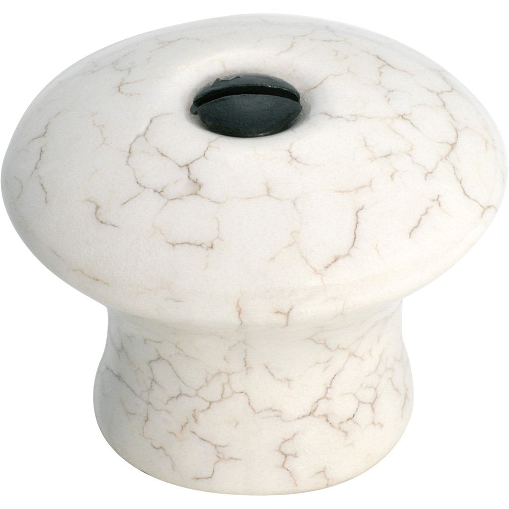 Crazed Ivory Porcelain Knob
