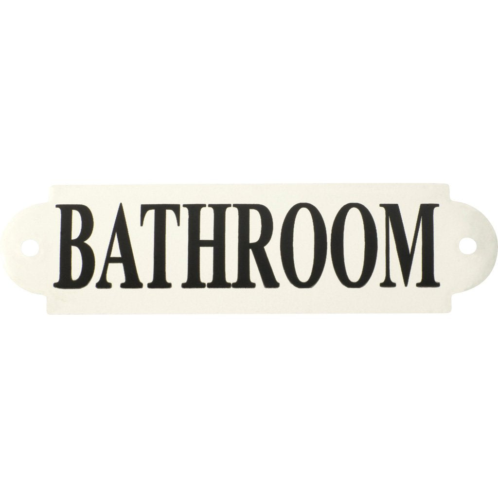 Enamel Sign Bathroom