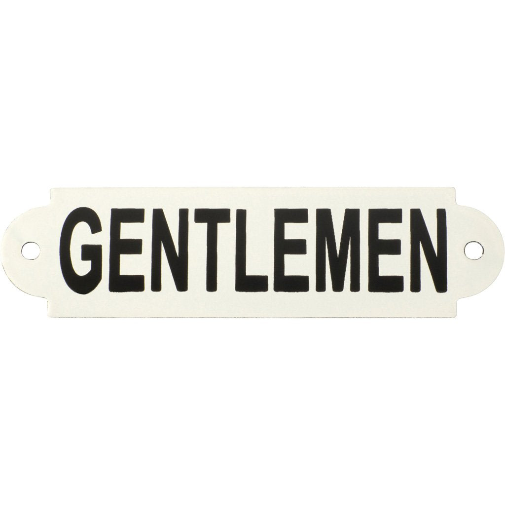 Enamel Sign Gentlemen