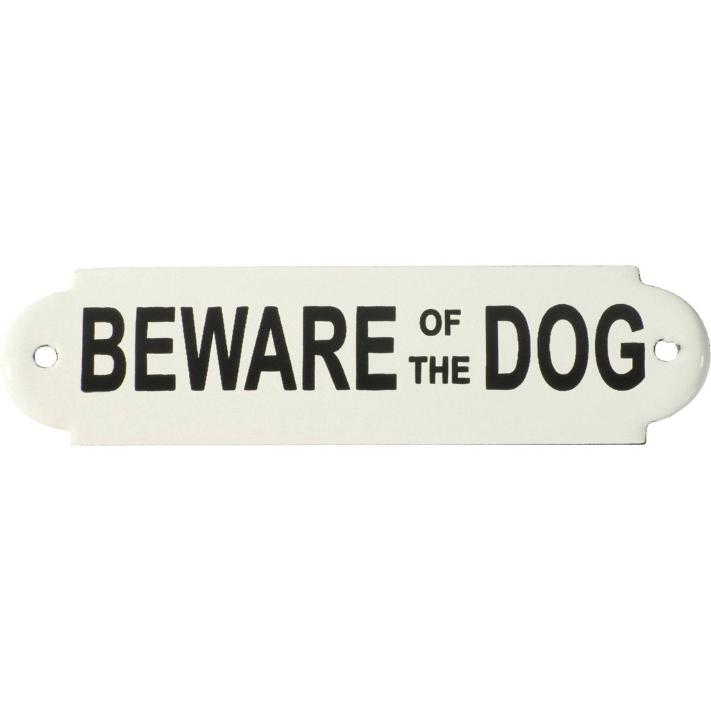 Enamel Sign Beware Of The Dog