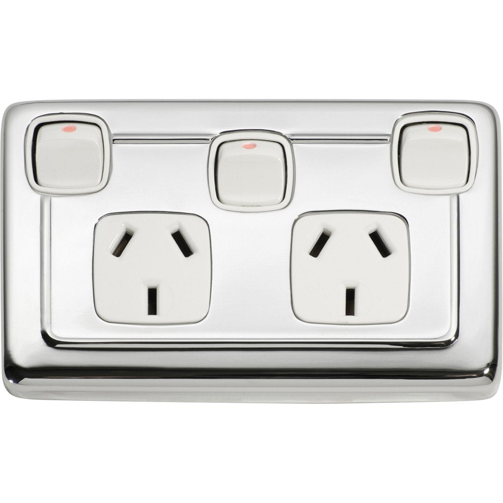Double Power Point with Switch Clip On