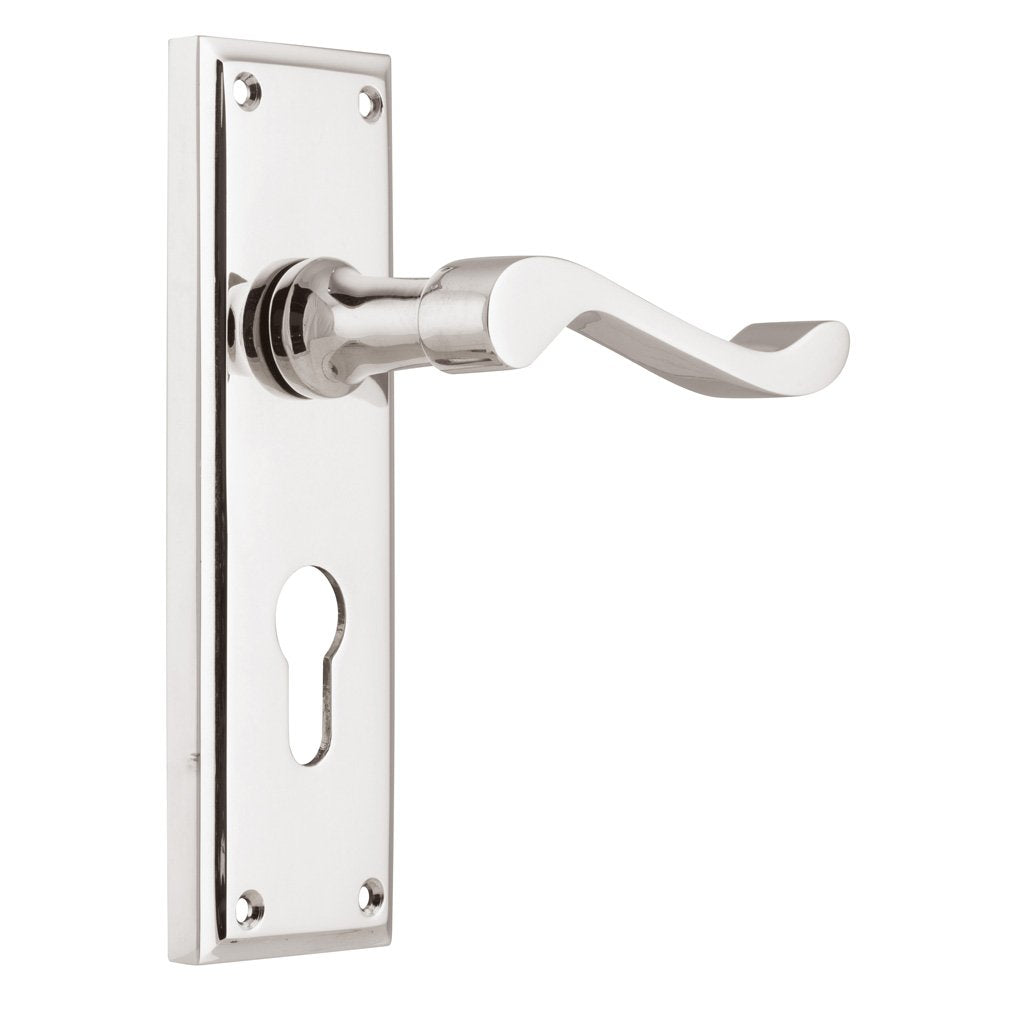 Camden Lever on Rectangular Plate (Door Handle Set)