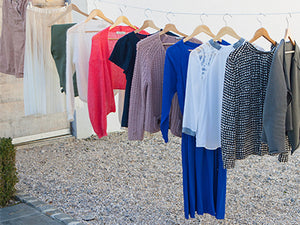 Clothes on hanging line