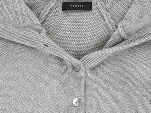 Cashmere hoody with buttons