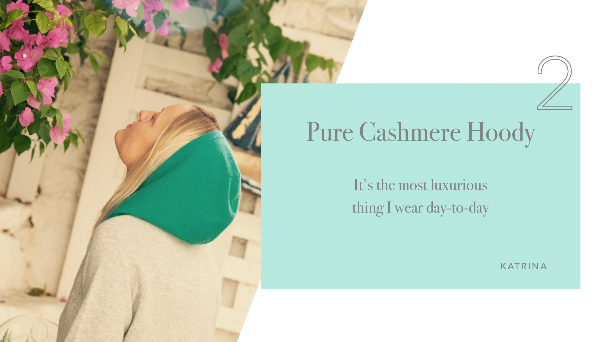 Turquoise cashmere hoody