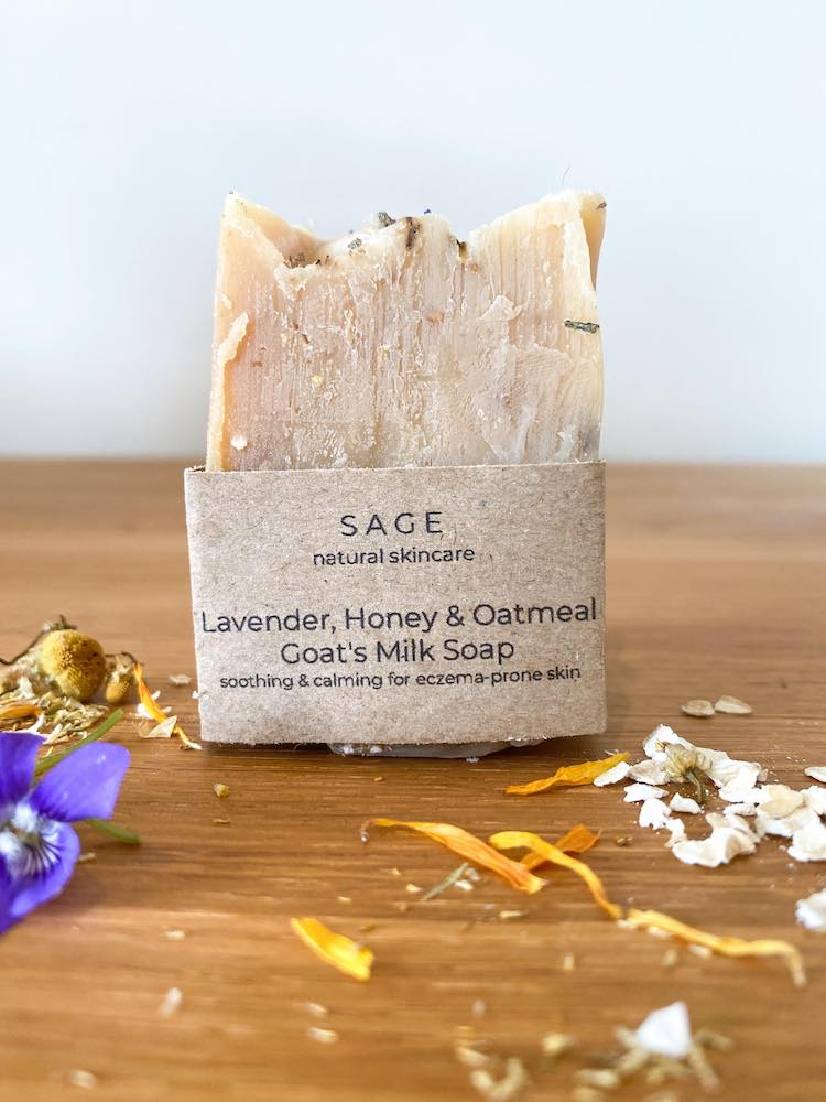 Lavender, Honey and Oatmeal Goat's Milk Soap