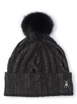 Metallic Print Beanie - Black