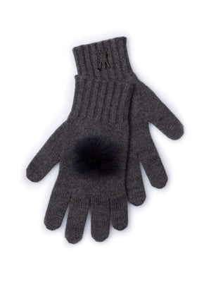 Cashmere Gloves - Charcoal