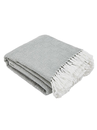 Weaver Green Diamond Blanket - Dove Grey