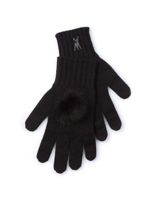 Cashmere Gloves - Black - TALLIS