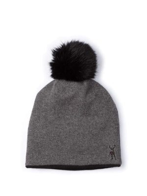 charcoal reversible beanie