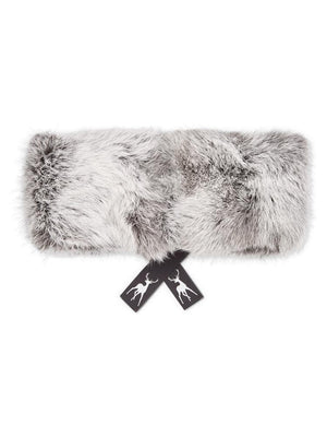 Fur Headband - Silver Grey