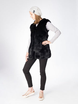 gilet in alpine hare
