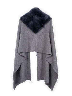 shearling charcoal tippet