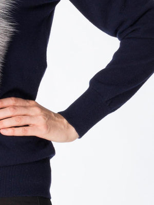 Tallis cashmere jumper in navy