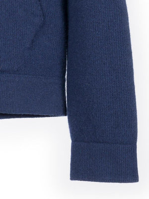 Chunky Cashmere Hoody - Navy