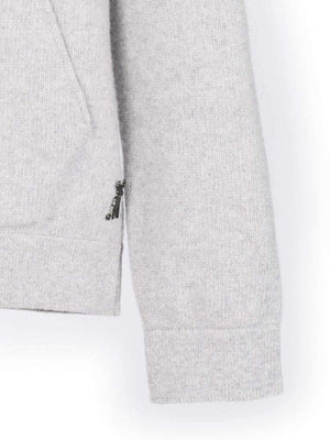 Cashmere Elbow Hoody - Grey/black