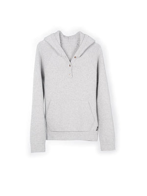 Chunky Cashmere Hoody - Grey