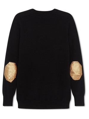 Cashmere Fisherman Jumper - Black - TALLIS