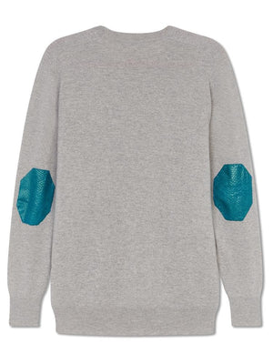 Cashmere Fisherman Jumper - Light Grey