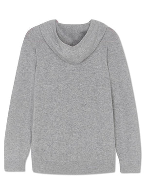 Pure Cashmere Hoody - Grey