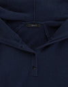 Cashmere Elbow Hoody - Navy/grey - TALLIS