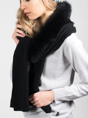 Teeny in Shearling - Black with black trim - TALLIS